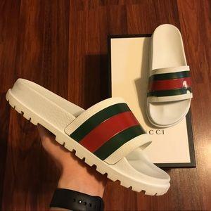 Gucci Shoes - Men's Gucci Web Slides Sandals
